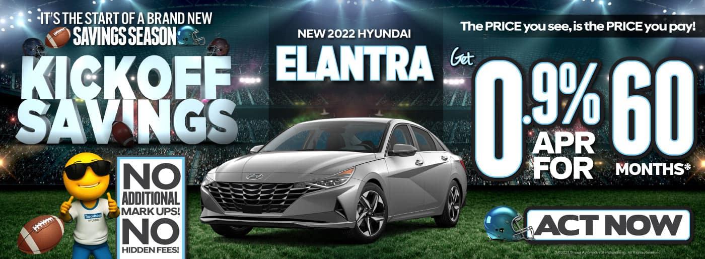 New 2022 Hyundai Elantra - Get 0.9% APR for 60 months* - ACT NOW