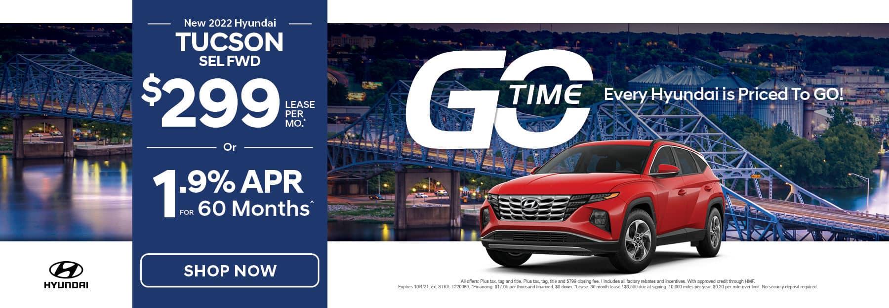 Go Time - New 2022 Hyundai Tucson
