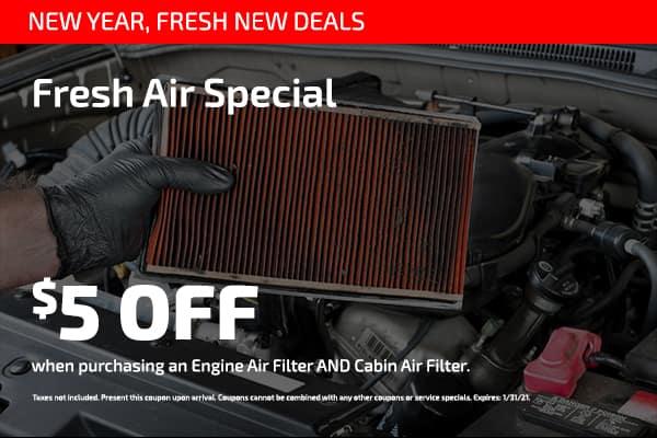 Fresh Air Special $5 off