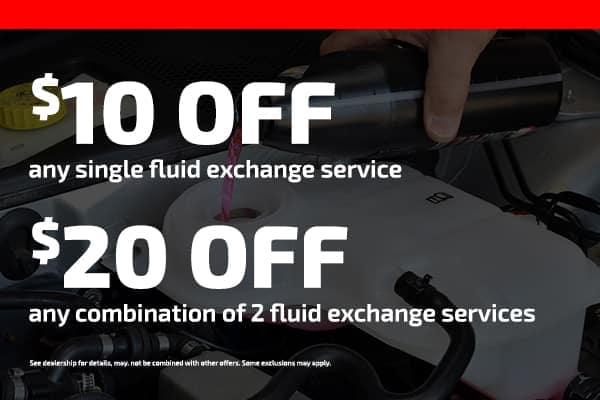 $10 off any fluid exchange