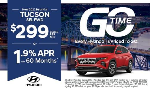 Go Time - New Hyundai 2022 Tucson