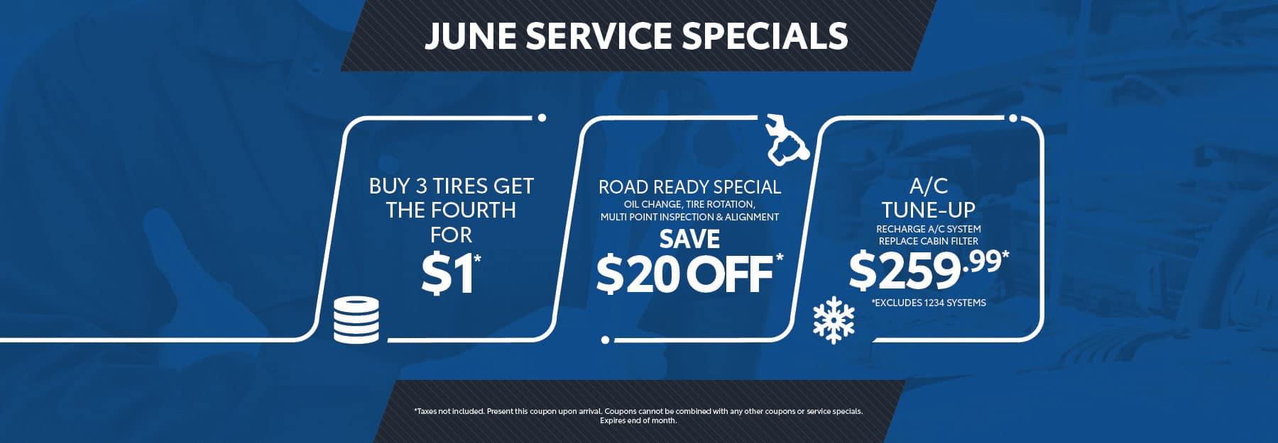 June service specials