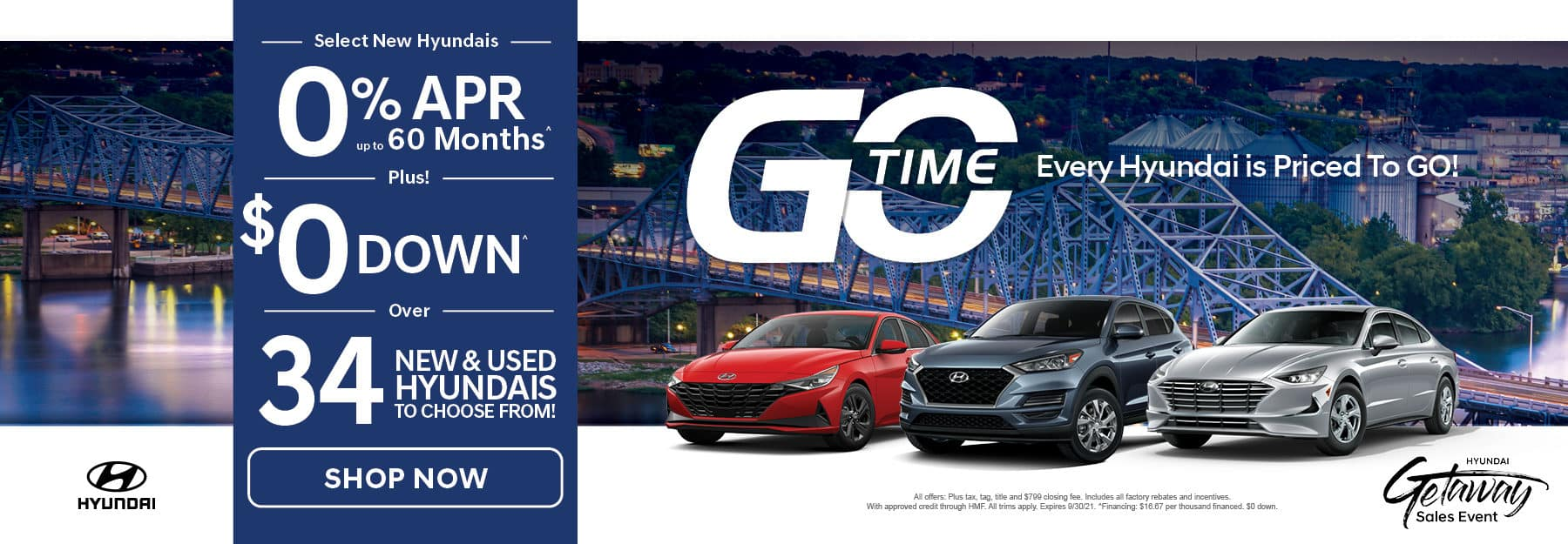 Go Time - New 2021 Hyundai Vehicles