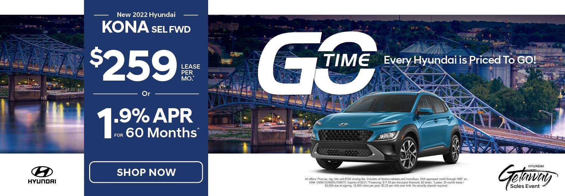Go Time - New 2021 Hyundai Kona