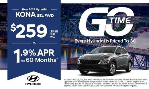 Go Time - New Hyundai 2022 Kona