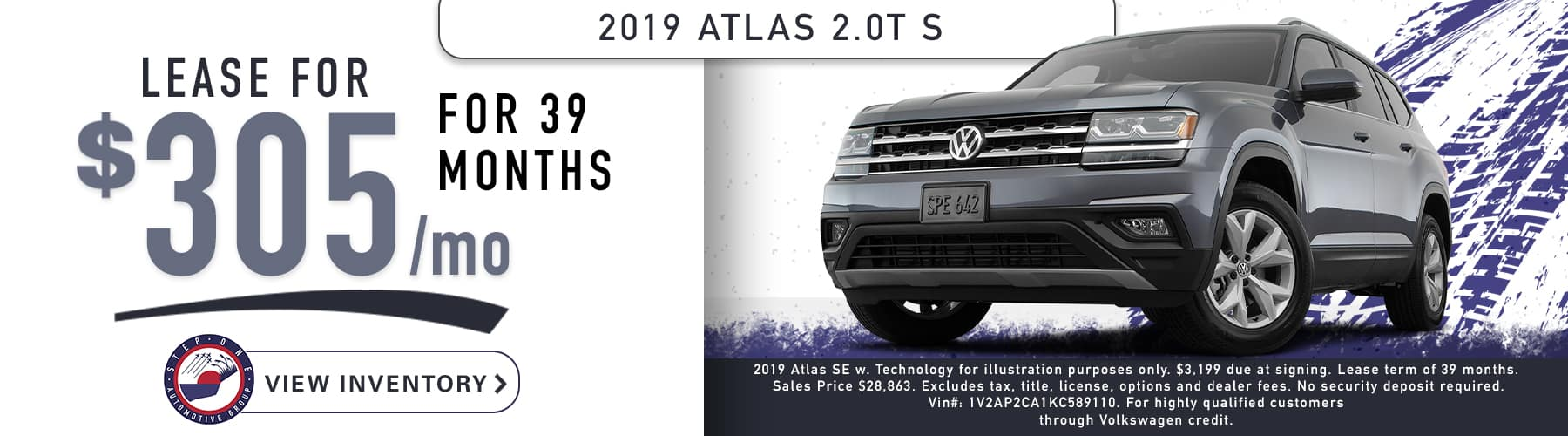 VW Fort Walton Beach February 2020 2019 Atlas 1800x500