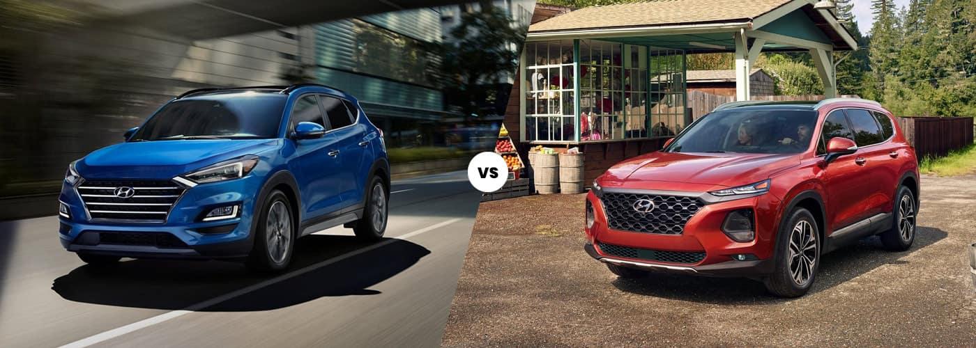 2021 Hyundai Tucson vs. 2020 Hyundai Santa Fe