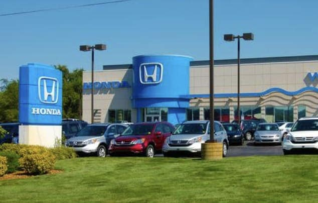 The exterior of the Williams Honda dealership