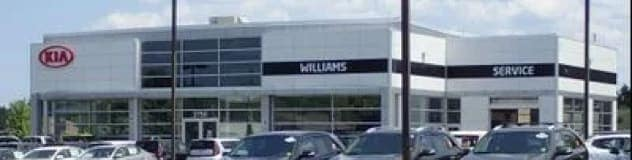 The exterior of the Williams KIA dealership