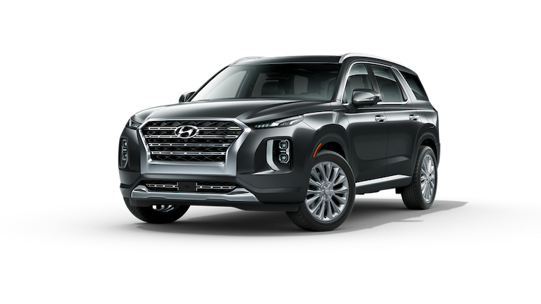 A silver 2020 Hyundai Palisade Limited