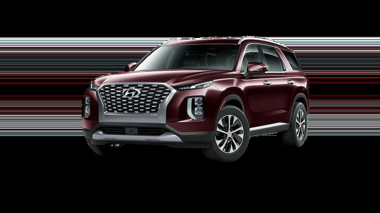 A red 2020 Hyundai Palisade SEL