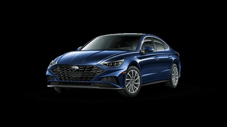 A blue 2020 Hyundai Sonata Limited