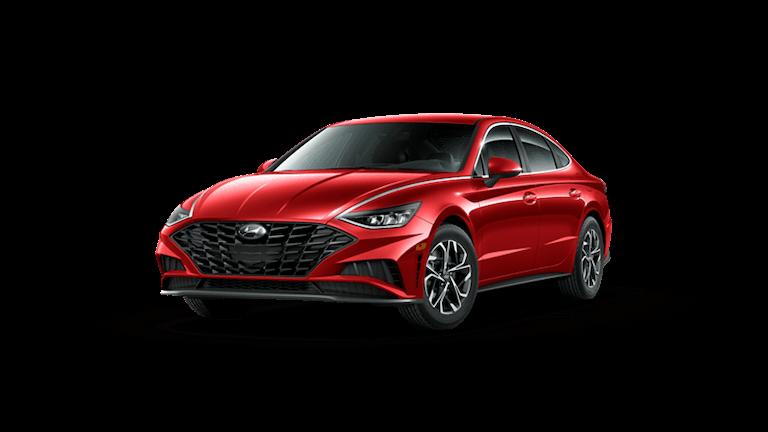 A red 2020 Hyundai Sonata SEL