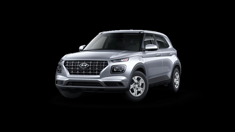 A silver 2020 Hyundai Venue SE