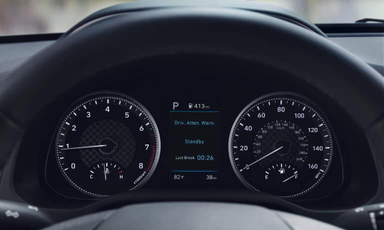 The display on the 2020 Hyundai Elantra