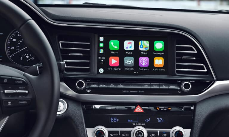The infotainment system of the 2020 Hyundai Elantra