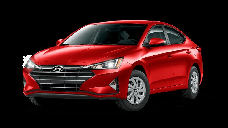 A red 2020 Hyundai Elantra SE