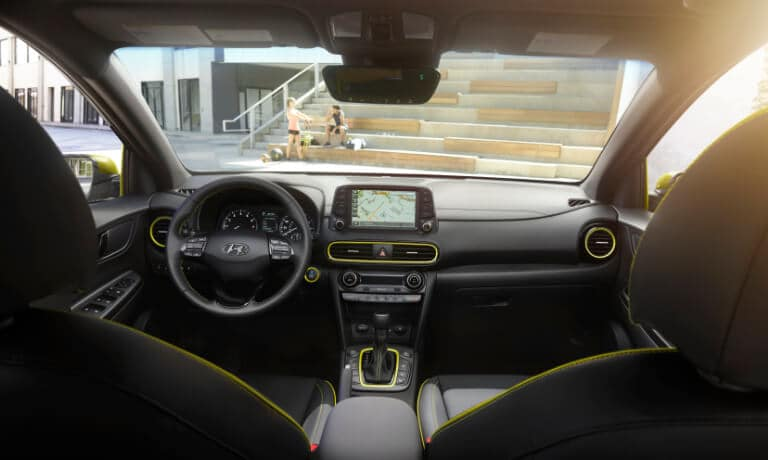 The dashboard of the 2020 Hyundai Kona