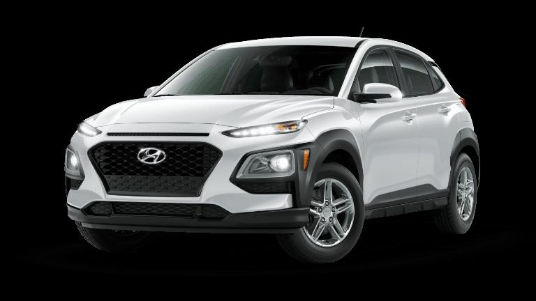 A white 2020 Hyundai Kona SE