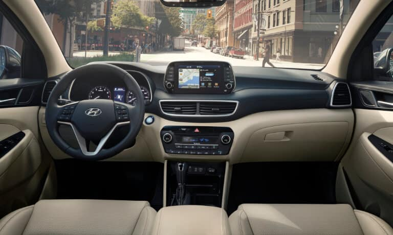 The infotainment system of the 2020 Hyundai Tucson