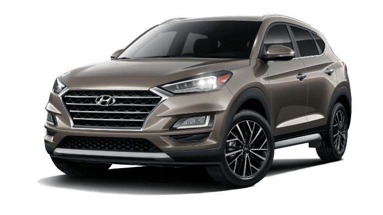 A Sage Brown 2020 Hyundai Tucson Limited