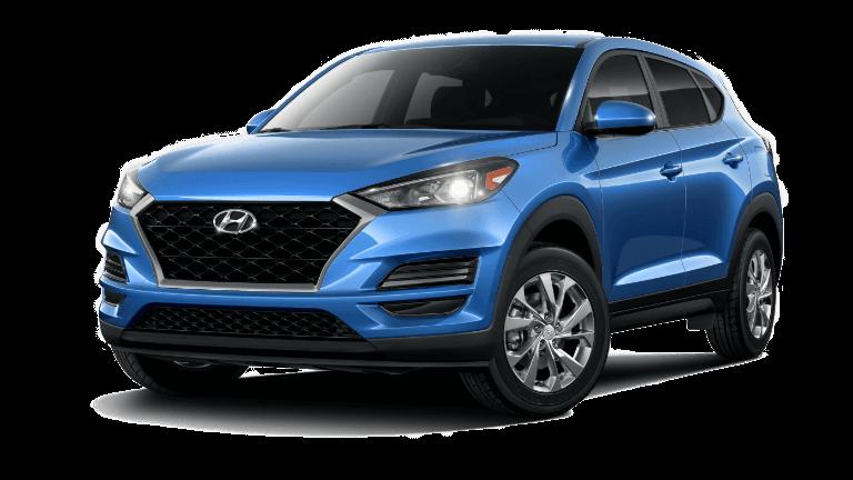 A blue 2020 Hyundai Tucson SE