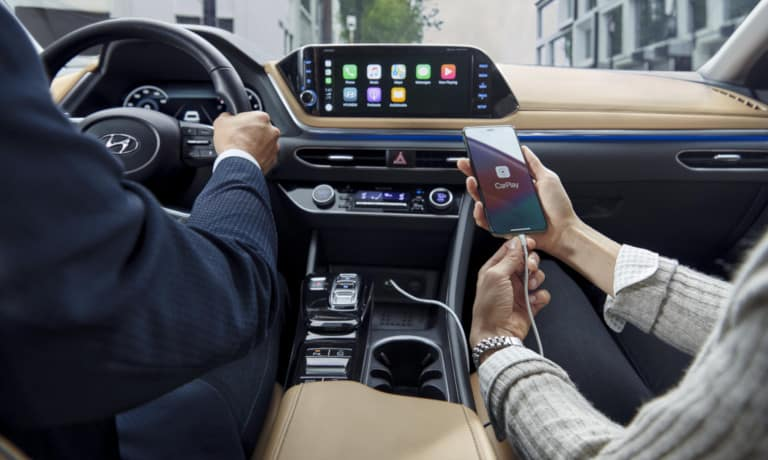 The infotainment system of the 2020 Hyundai Sonata