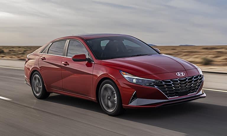 2021 Hyundai Elantra exterior driving on highway