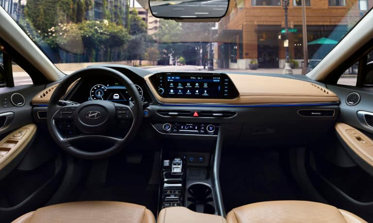 2021 Hyundai Sonata Hybrid interior front