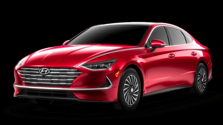 2021 Hyundai Sonata Hybrid Limited - Calypso Red