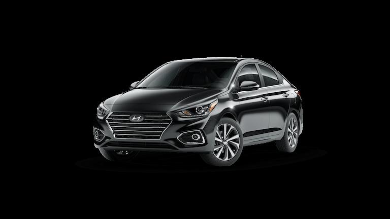 A black 2020 Hyundai Accent