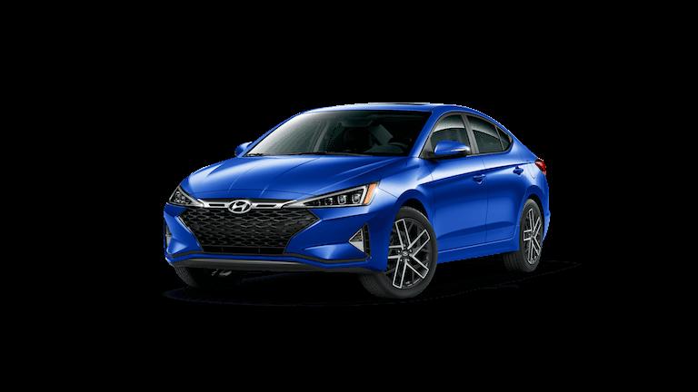 A blue 2020 Hyundai Elantra