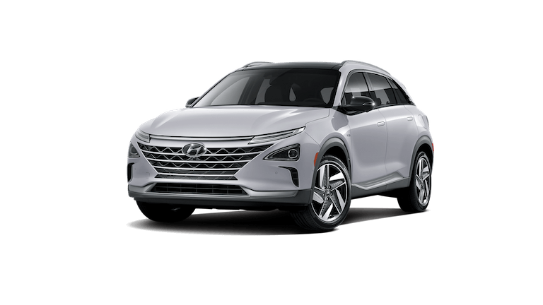 A silver 2020 Hyundai Nexo Fuel Cell