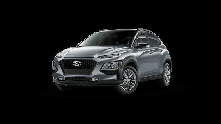 A silver 2021 Hyundai Kona SEL Plus