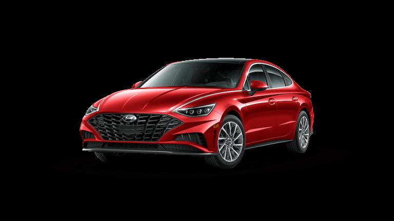 A red 2020 Hyundai Sonata