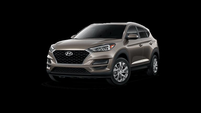 A tan 2020 Hyundai Tucson