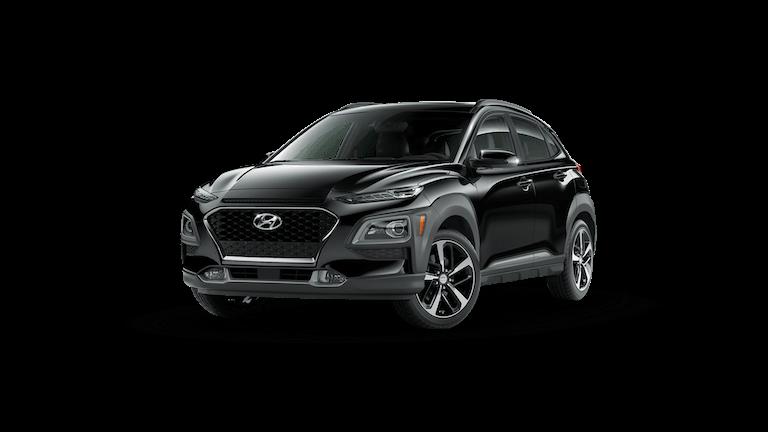 A silver 2021 Hyundai Kona Ultimate
