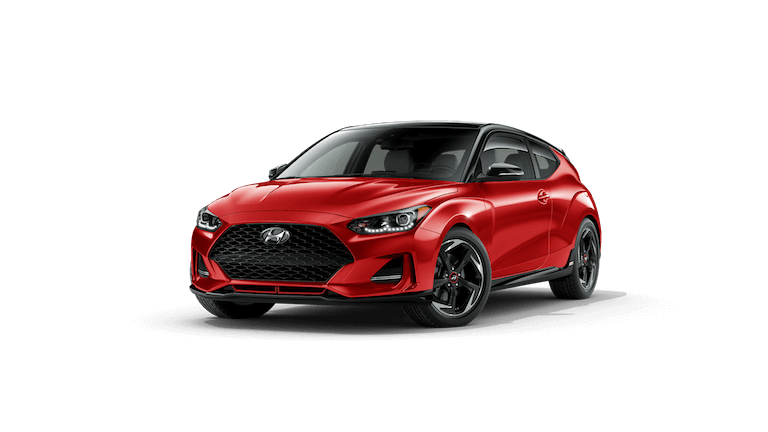 A red 2020 Hyundai Veloster