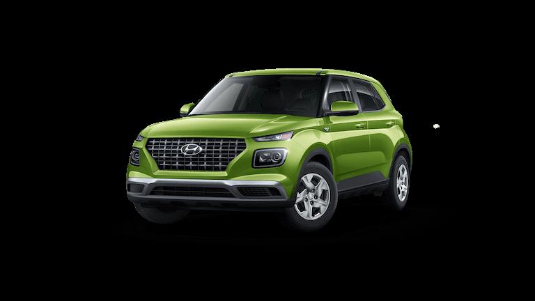 A green 2020 Hyundai Venue