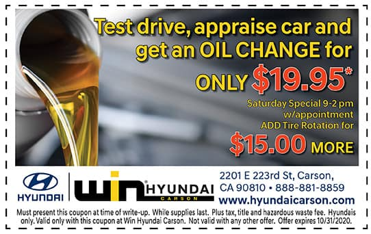 Test Drive, Appraisal and Oil Change!