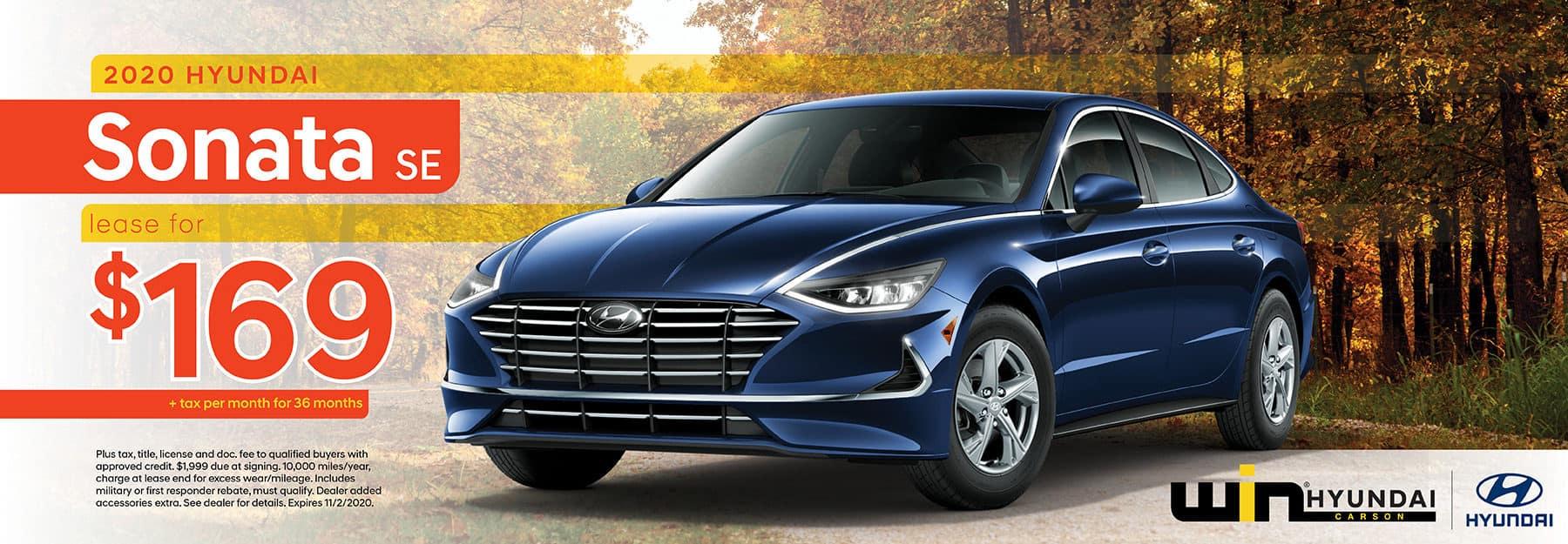 2020 Hyundai Sonata SE Lease for $169 | Carson, CA