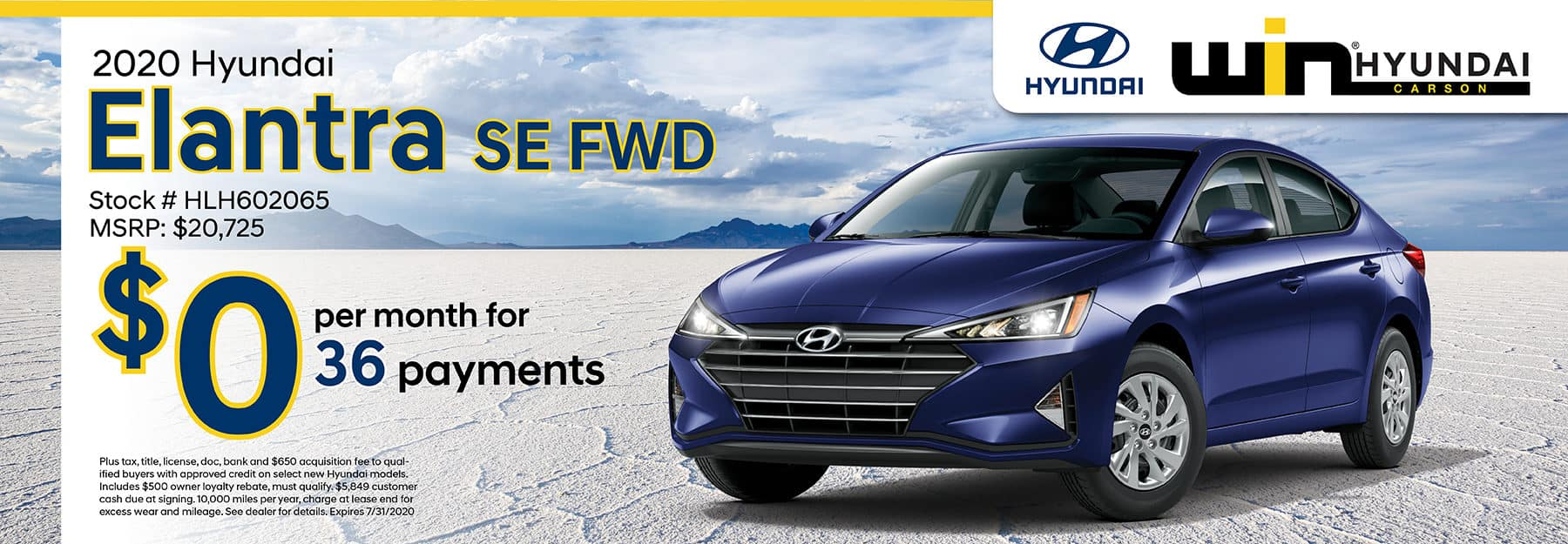 2020 Hyundai Elantra SE FWD