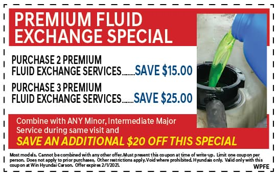 Premium Fluid Exchange Special | WIN Hyundai Carson