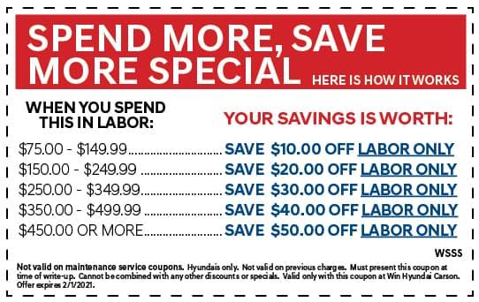 Spend more, Save more special | WIN Hyundai Carson