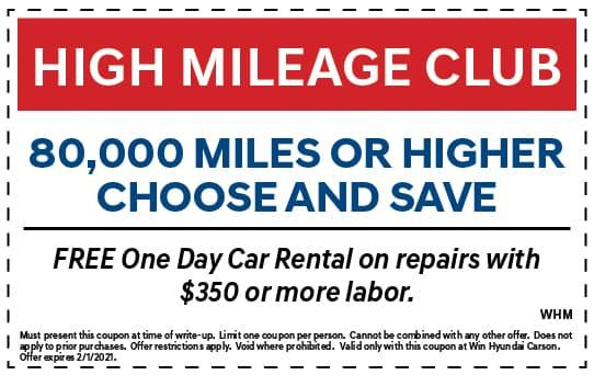 High Mileage Club | WIN Hyundai Carson