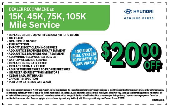 Dealer recommended Service | WIN Hyundai Carson