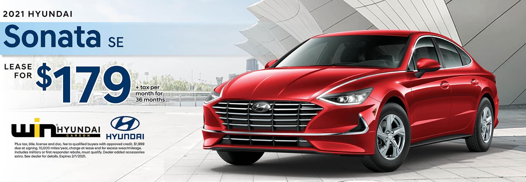 2020 Hyundai Sonata SE Lease for $165 | Carson, CA