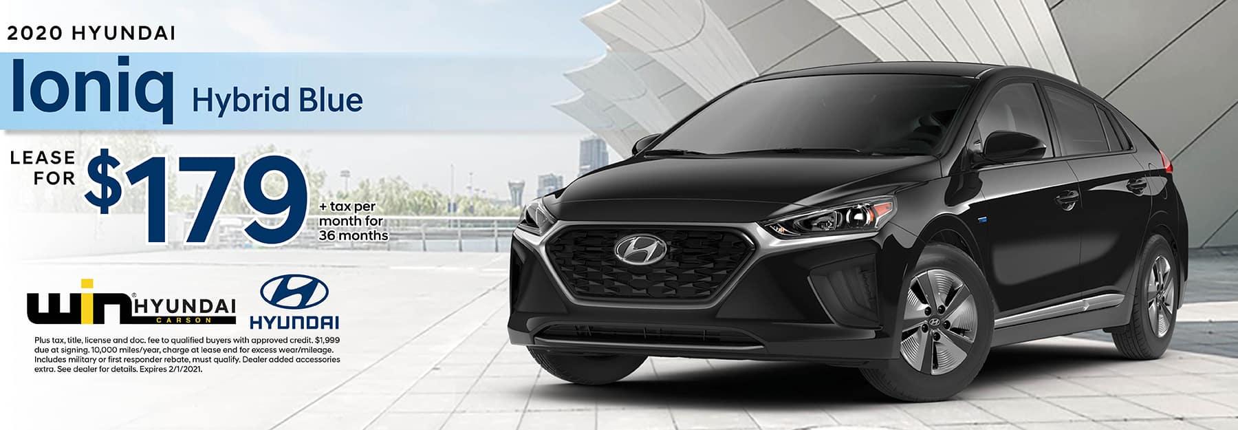 2020 Hyundai Ioniq SE Lease for $219 | Carson, CA