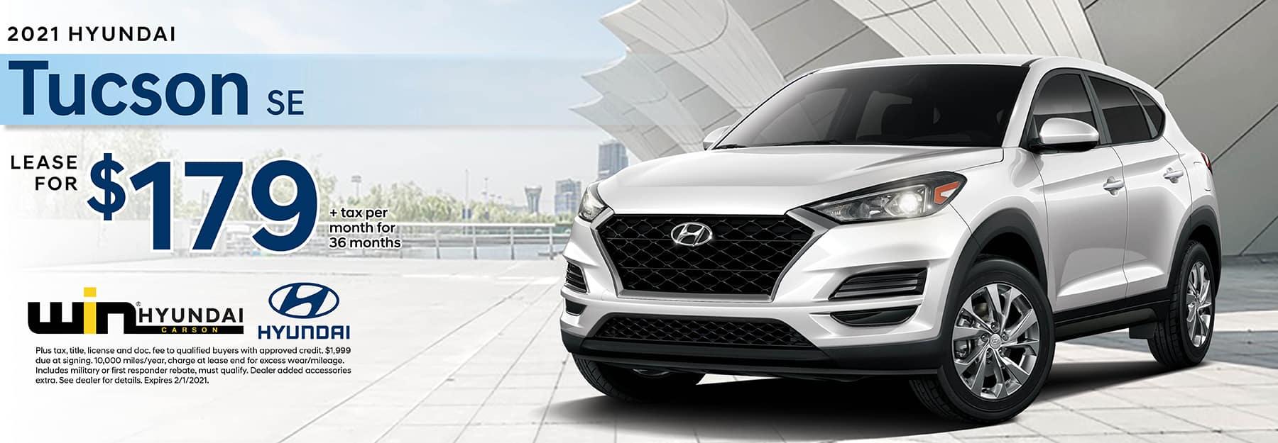 2021 Hyundai Tucson SE Lease for $199 | Carson, CA