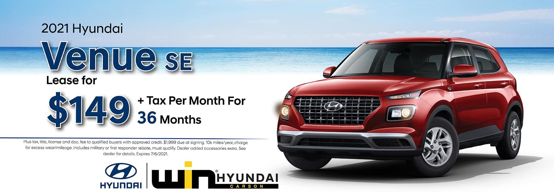 2021 Hyundai Venue SE Lease    Carson, CA